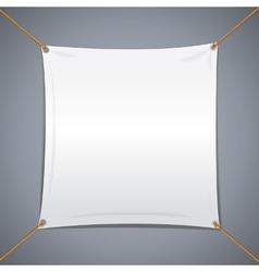 White textile banner vector