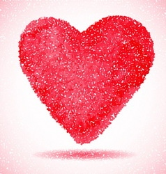 Red heart engraving vector