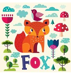 The fox vector image