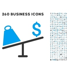 Market price swing icon with flat set vector