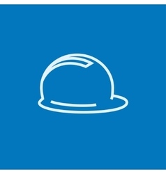 Hard hat line icon vector
