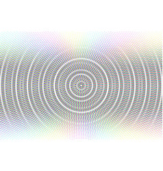 Abstract circle glitched background vector