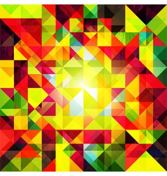 Abstract Colorful Geometric Grunge Background vector image