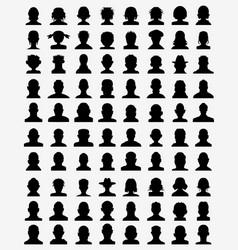 avatar profiles vector image vector image