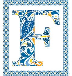 Blue letter f vector