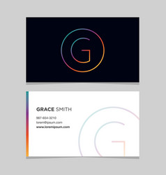 Business-card-letter-g vector