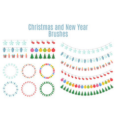 Christmas and new year party flags buntings vector