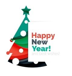 Christmas geometric banner 2017 new year vector