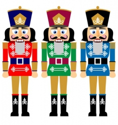 Christmas nutcracker vector