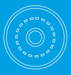 Circle road icon outline style vector