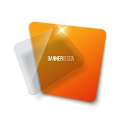 Creative realistic abstract transparent banner vector