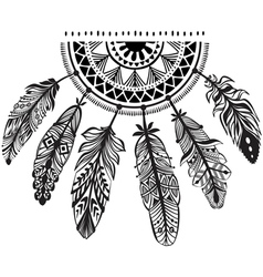Decoration dreamcatcher in tribe style vector