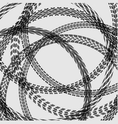 Different circle tire tracks vector