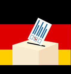 election in germany concept vector image