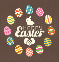 happy easter typographic vector image