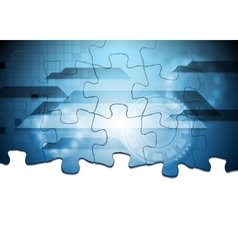 Hi-tech puzzle background vector image