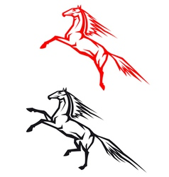 Jumping horses vector image