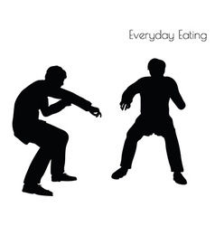 Man in everyday eating pose vector