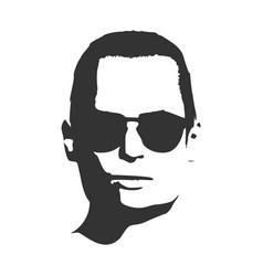 man portrait front view vector image vector image