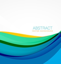 modern colroful waves background design vector image vector image
