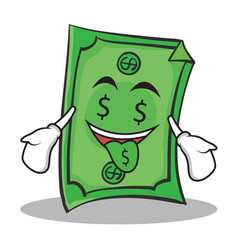 money mouth face dollar character cartoon style vector image vector image
