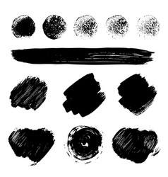 Paint brush strokes texture vector