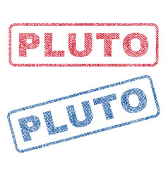 Pluto textile stamps vector