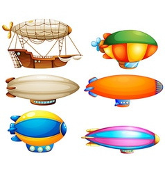 Sets of flying objects vector