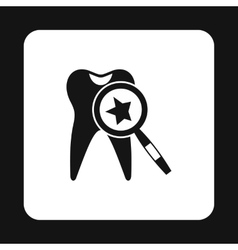 Teeth inspection icon simple style vector