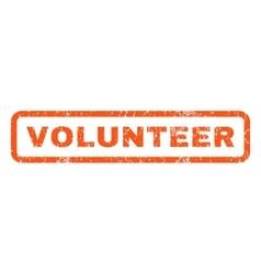 Volunteer rubber stamp vector