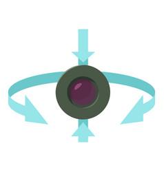 Web camera icon cartoon style vector
