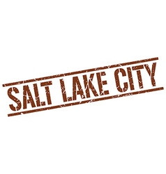 Salt lake city brown square stamp vector