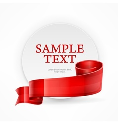 Circle frame with text vector