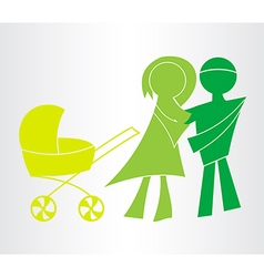 Happy family icons symbols vector