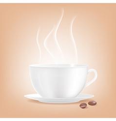 Smoking coffee cup vector image