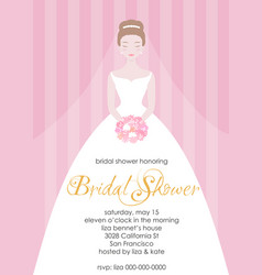 Bridal shower invitation template vector
