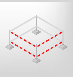 road traffic barrier isometric vector image