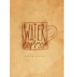 Americano cup coffee craft vector