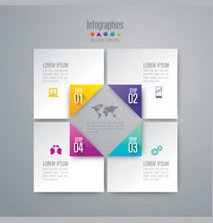 Infographics design with 4 options vector