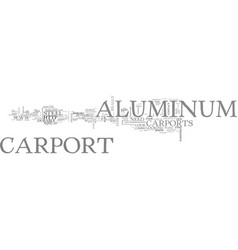 Aluminum canoes text word cloud concept vector