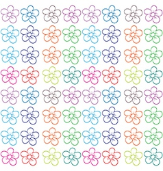 Seamless flowery design vector image