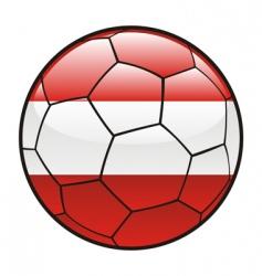 austria flag on soccer ball vector image