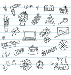 School objects set vector