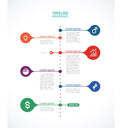 Timeline infographics with points vector