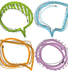 Collection of Hand Drawn Doodle Style Speech vector image