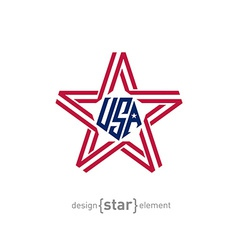 Star with american flag colors design element vector