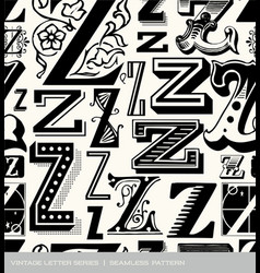 Seamless vintage pattern letter z vector