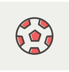 Soccer ball thin line icon vector