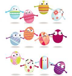 bouncing eggs vector image