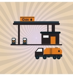 Oil industry and truck design vector